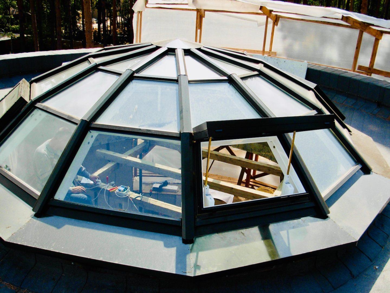 Купол с открывающимися створками на электрике Концепция СПК Москва