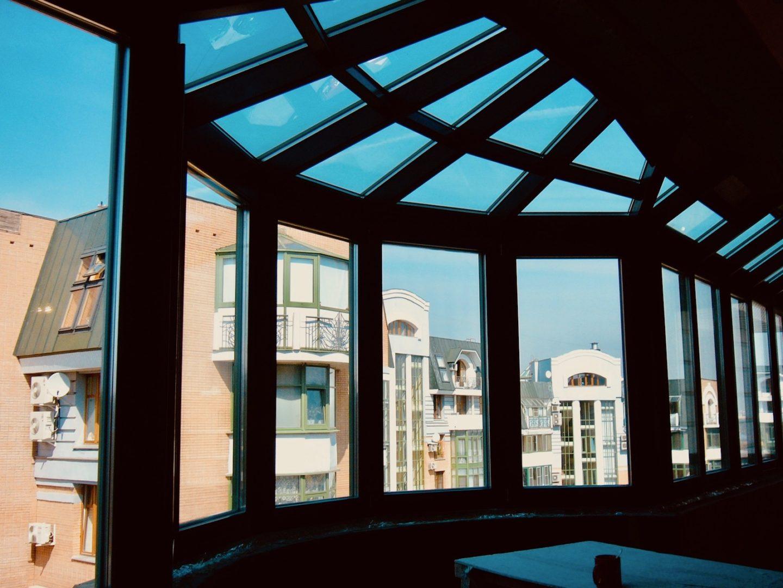 Остекление балкона Al изнутри Концепция СПК Москва